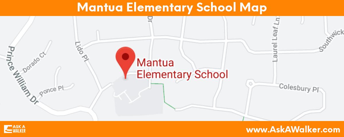 Map of Mantua Elementary School
