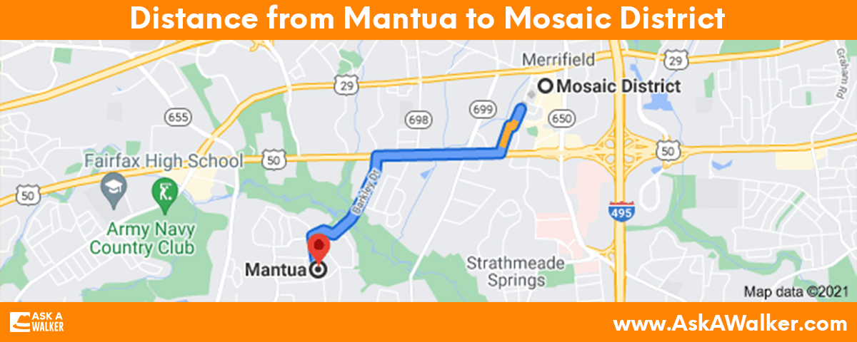 Distance from Mantua to Mosaic District