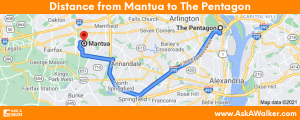 Distance from Mantua to The Pentagon