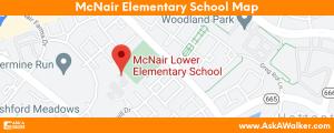 Map of McNair Elementary School