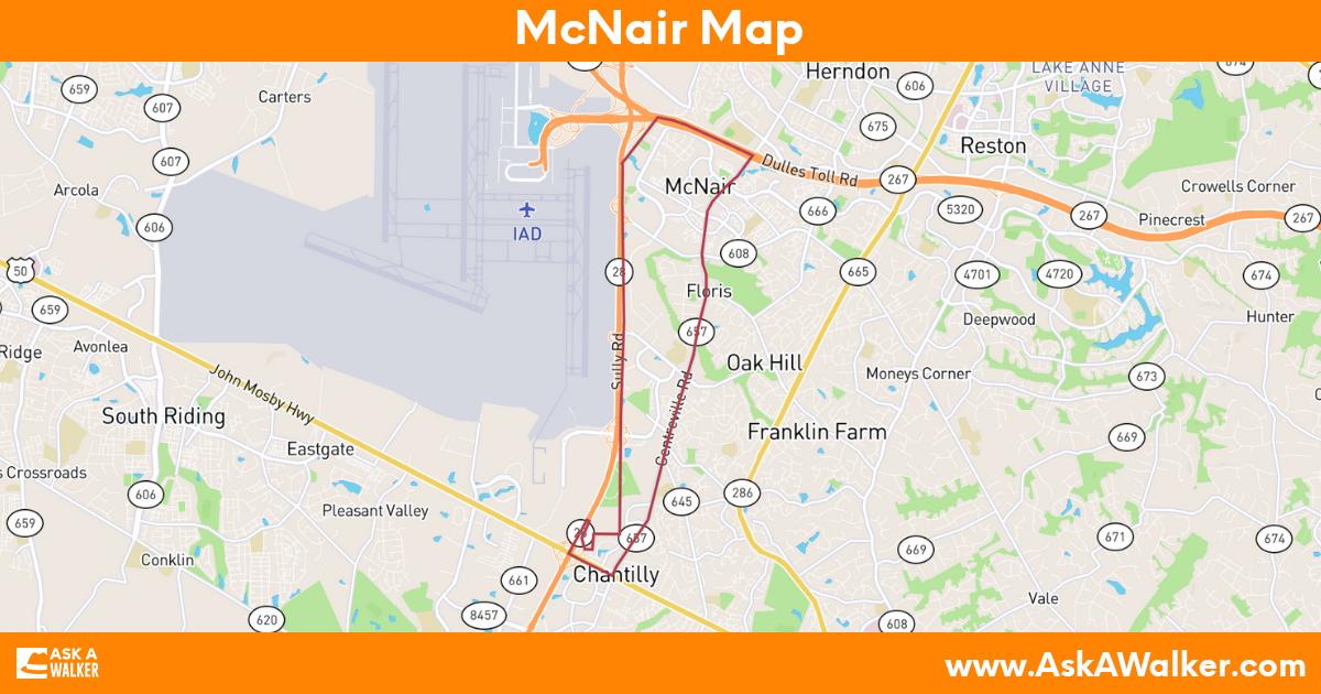 Map of McNair