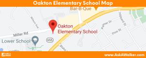 Map of Oakton Elementary School