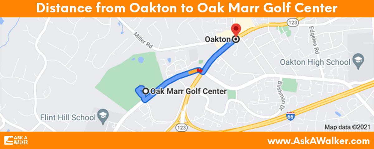 Distance from Oakton to Oak Marr Golf Center