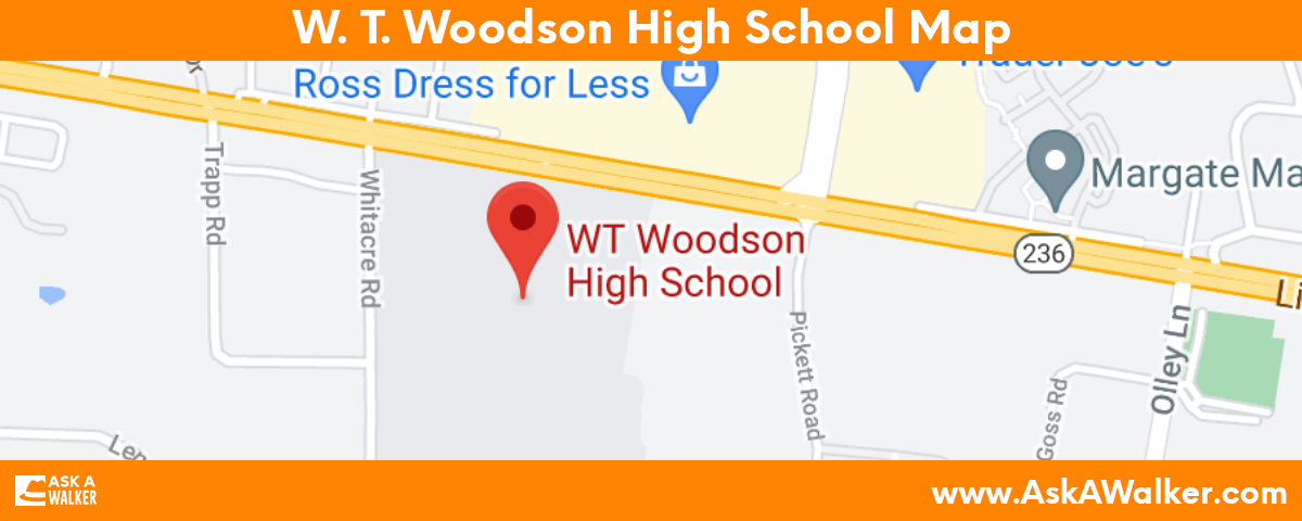 Map of W. T. Woodson High School
