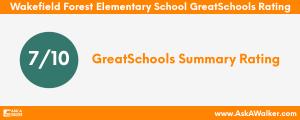 GreatSchools Rating of Wakefield Forest Elementary School