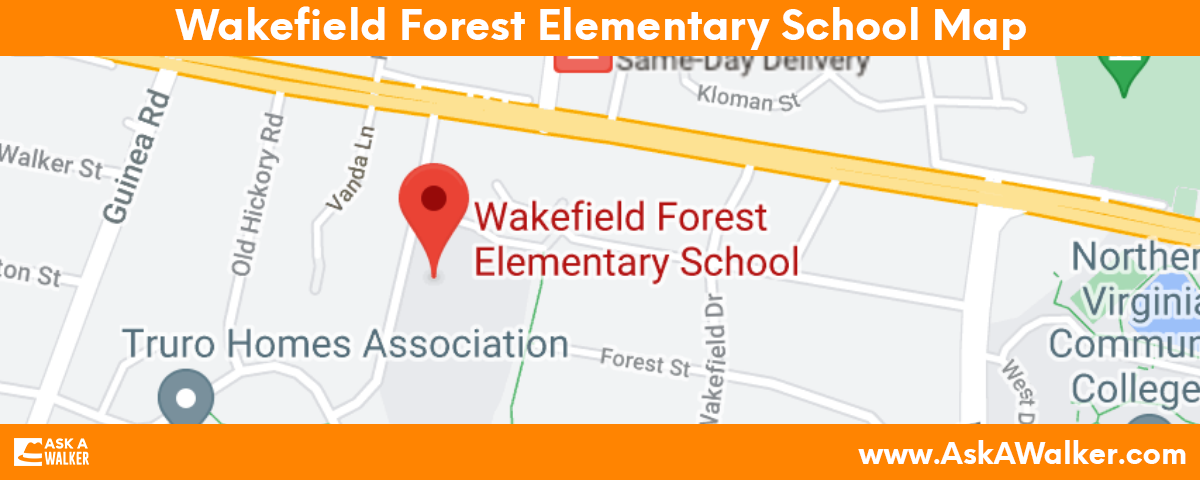 Map of Wakefield Forest Elementary School