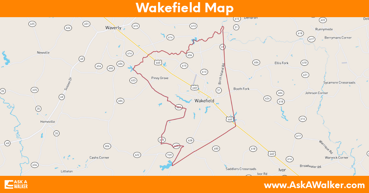 Map of Wakefield