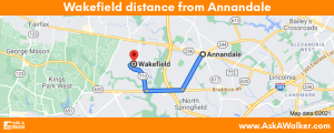 Distance from Wakefield to Annandale