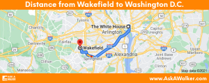 Distance from Wakefield to Washington D.C.
