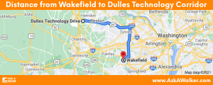 Distance from Wakefield Dulles Technology Corridor