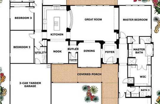 Floor Plan – 2625 E Languid Ln