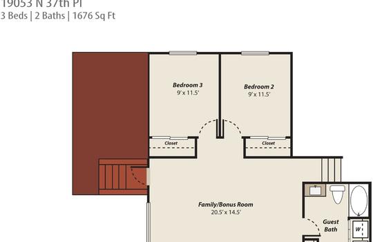 Floor Plan Photo 2 – 19053 N 37th Pl