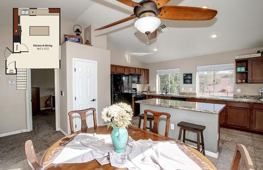 Kitchen Photo w Floorplan – 19053 N 37th Pl