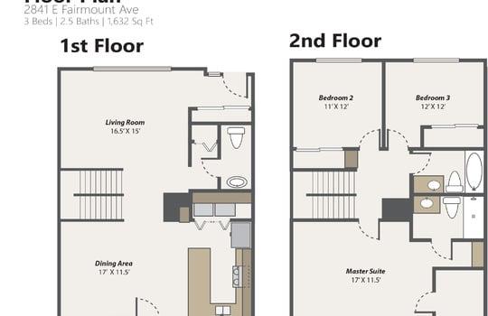 Floor Plan [Photo Version] 2841 E Fairmount Ave-01