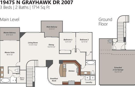 Floor Plan Photo Version – 19745 W Grayhawk Dr 2007 – Sokolowski