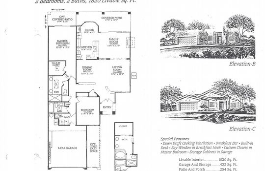 Floor Plan Photo – 25036 S Stoney Lake Dr – The Ventana