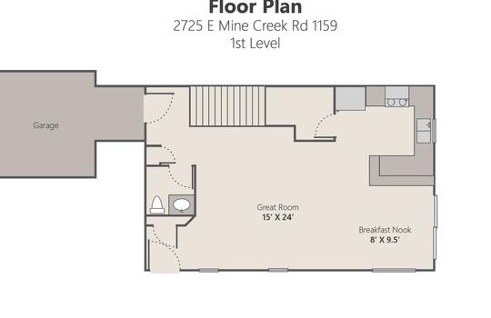 Floor Plan Lvl 1 – 2725 E Mine Creek Rd 1159-01