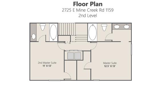 Floor Plan Lvl 2 – 2725 E Mine Creek Rd 1159-01-02