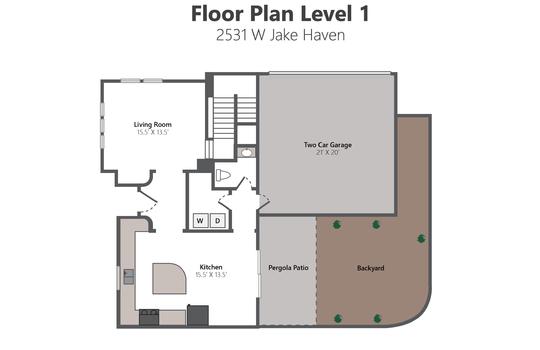 Floor Plan Level 1 – 2351 W Jake Haven-01
