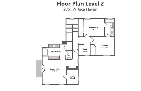 Floor Plan Level 2 – 2351 W Jake Haven-02