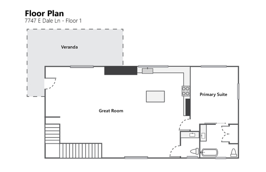 Floor Plan Floor 1 Photo – 7747 E Dale Ln-01