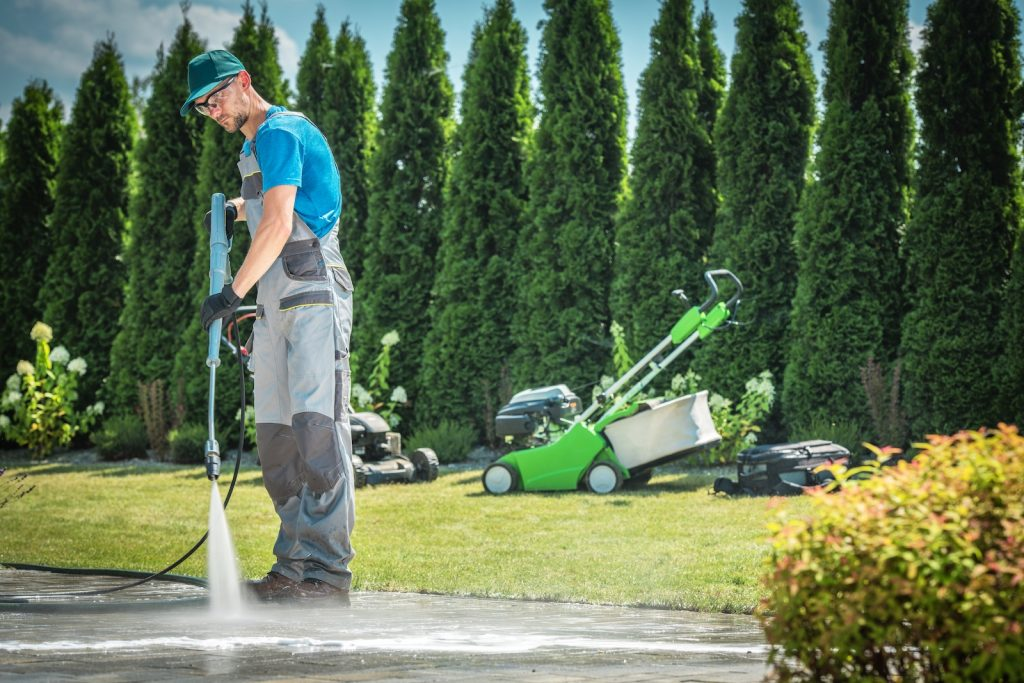 pressure washing home curb appeal