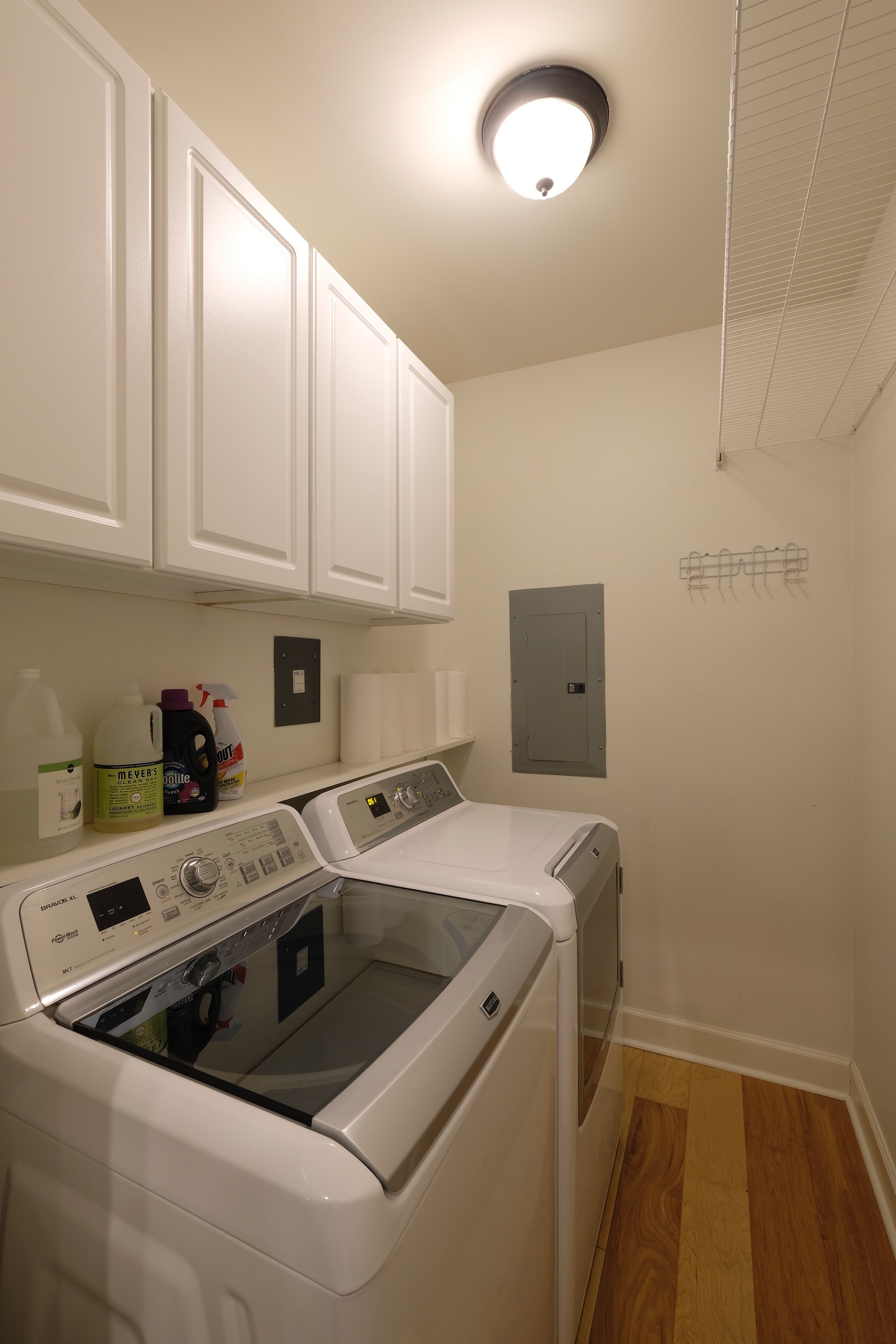 Laundry Room With Storage Over Washer And Dryer Living Local Nashville