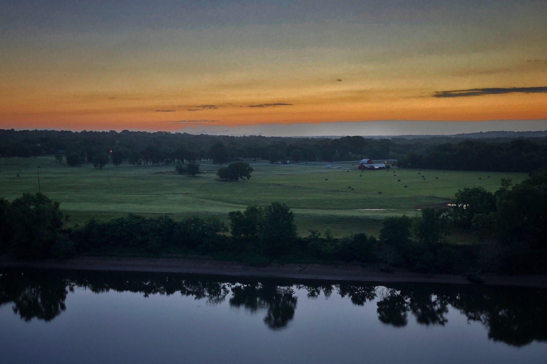 Cumberland River Sunrise in Nashville, Tennessee