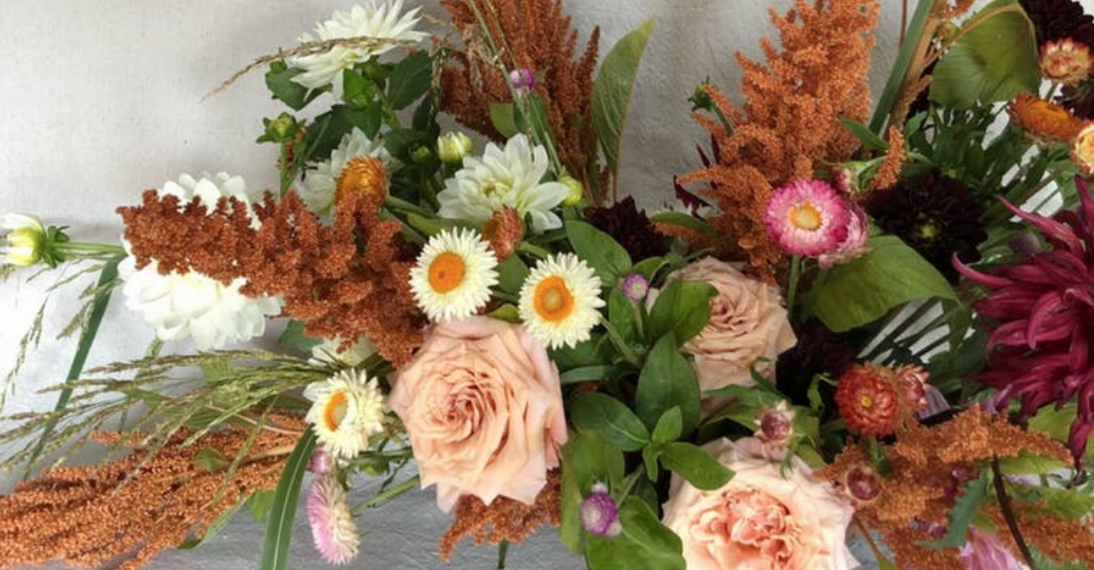 Melissa Broadwell of Vintage Florals Thanksgiving Centerpieces
