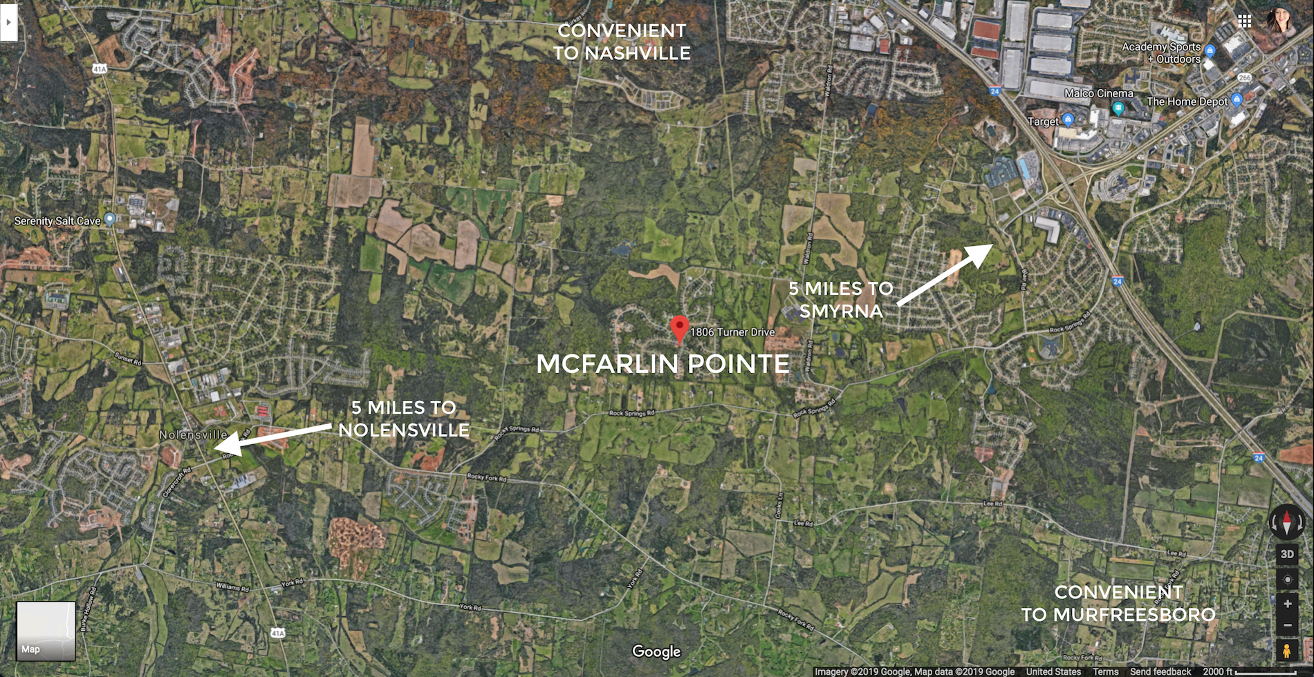 McFarlin Pointe subdivision between Nolensville, Smyrna and LaVergne, convenient commute to Nashville and Murfreesboro
