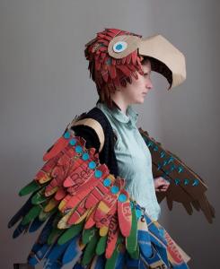 Cardboard Parrot Bird Halloween Costume