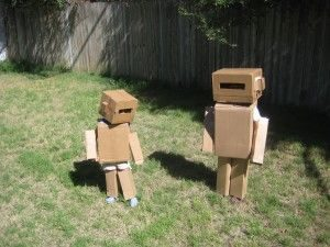 Cardboard robot Halloween costume
