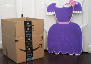 DIY Cardboard Box Paper Doll Costume