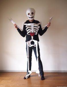 Dancing Cardboard Skeleton Costume