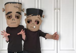Frankenstein cardboard costumes