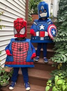 Lego Superhero Cardboard Costumes