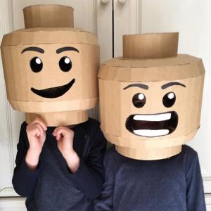 Lego figure Halloween cardboard costumes