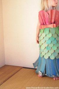 Mermaid cardboard costume