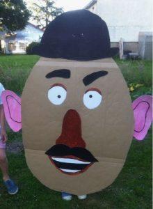 Mr. Potato Head Cardboard Costume