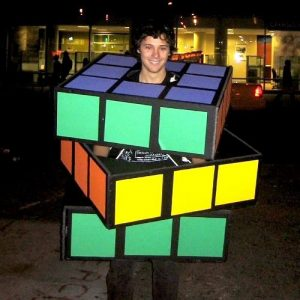 Rubiks Cube Costume DIY Cardboard Halloween