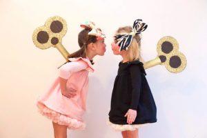 Wind up dolls cardboard costume