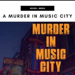 Murder in Music City Book - Nashville, TN Local Gifts