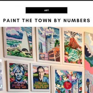 Paint the Town by Numbers - Nashville, TN Local Gifts