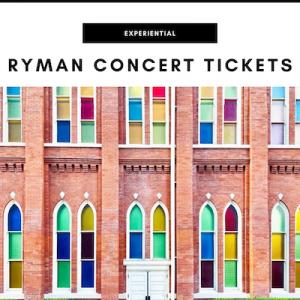 Ryman Concert Tickets - Nashville, TN Local Gifts