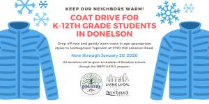 Coat Drive for Donelson public school students in Nashville, TN