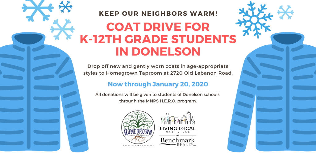 Coat Drive for Donelson public school students in Nashville, TN