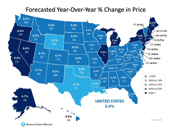 Forecasted Year-over-Year Change in Home Prices