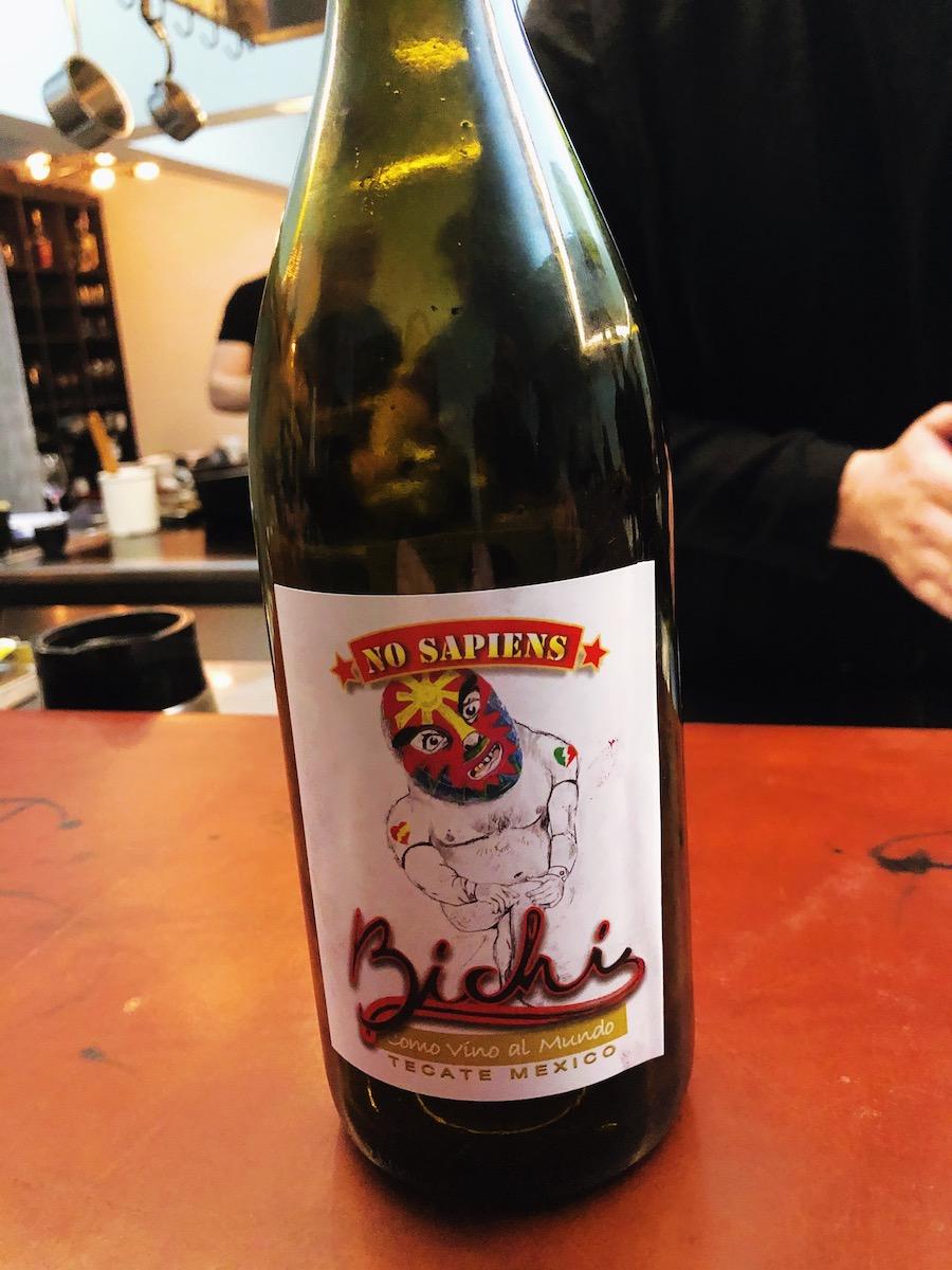 Bichi No Sapiens red wine at The Catbird Seat, Nashville, TN