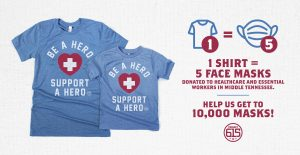 Project 615 Be a Hero Support a Hero shirt