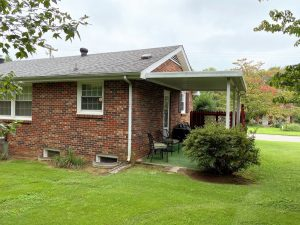 Covered patio on all brick home in Wilson County, TN